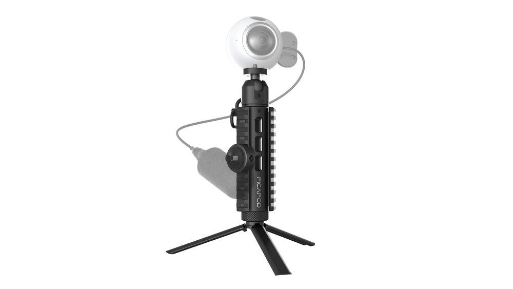 Picatinny Miniature Tripod adapts all camera