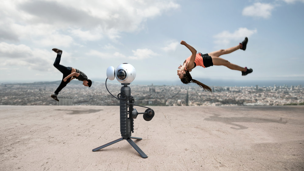 Picatinny Miniature Tripod for 360deg video shooting