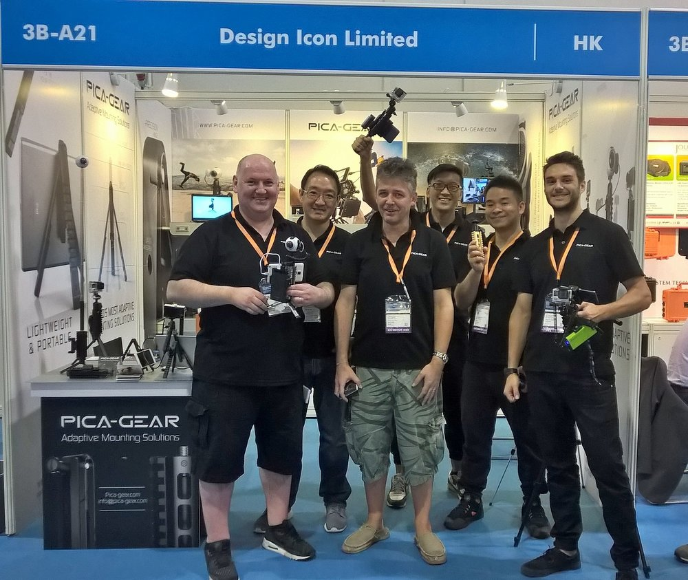 PICA-GEAR team Hong Kong Electronic fair