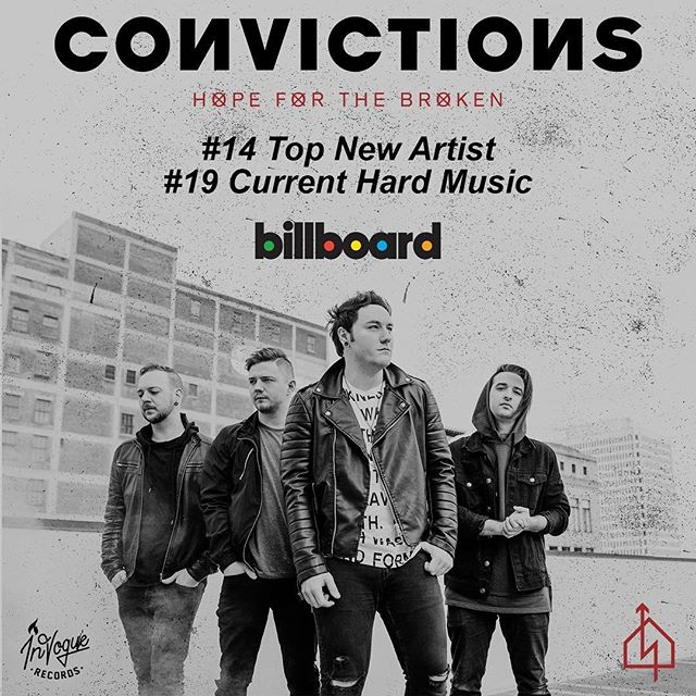 The new Convictions album we recorded is blowing up the charts. Really proud of these guys.