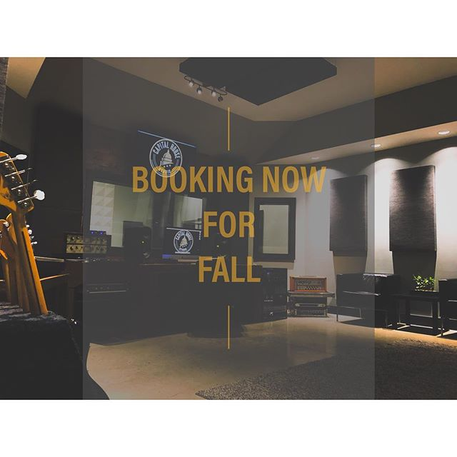 Looking to get in some studio time? Now booking projects for Fall 2018! Send an email to Nick@invoguerecords.com to reserve your spot now!