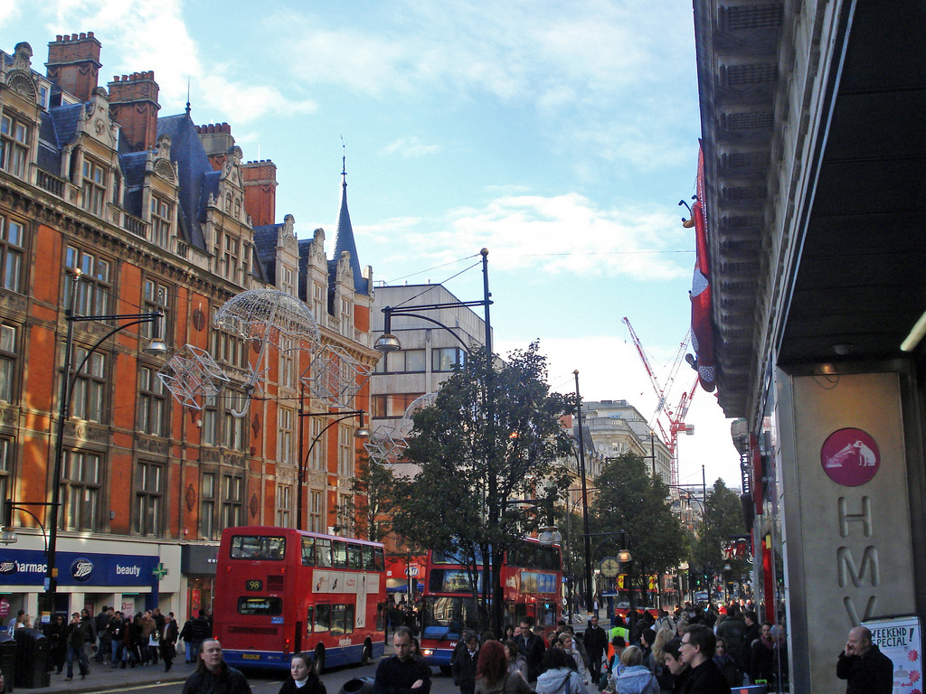 Beautiful Oxford Street...the good end. Image: Flickr/diamond geezer