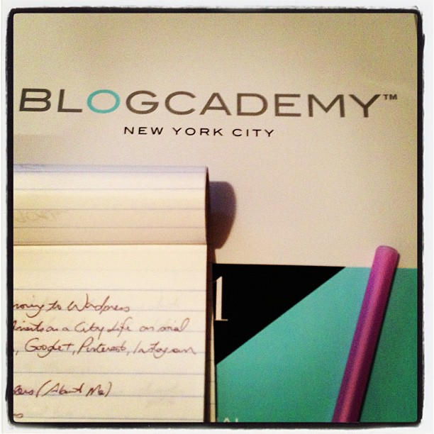 A glimpse of the Blogcademy amazingness.