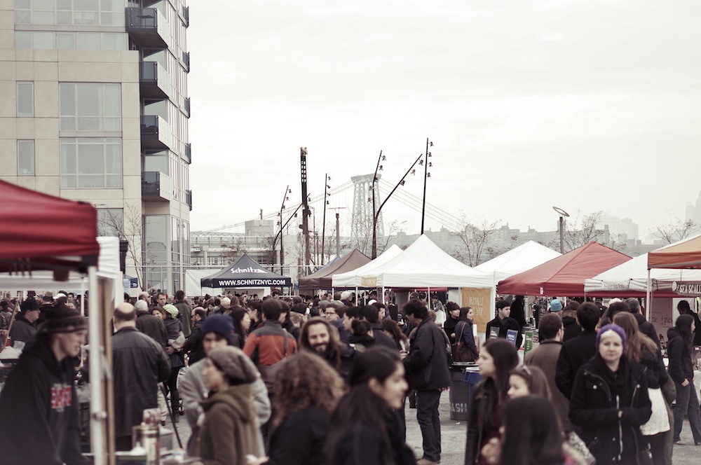 Smorgasburg on the waterfront.