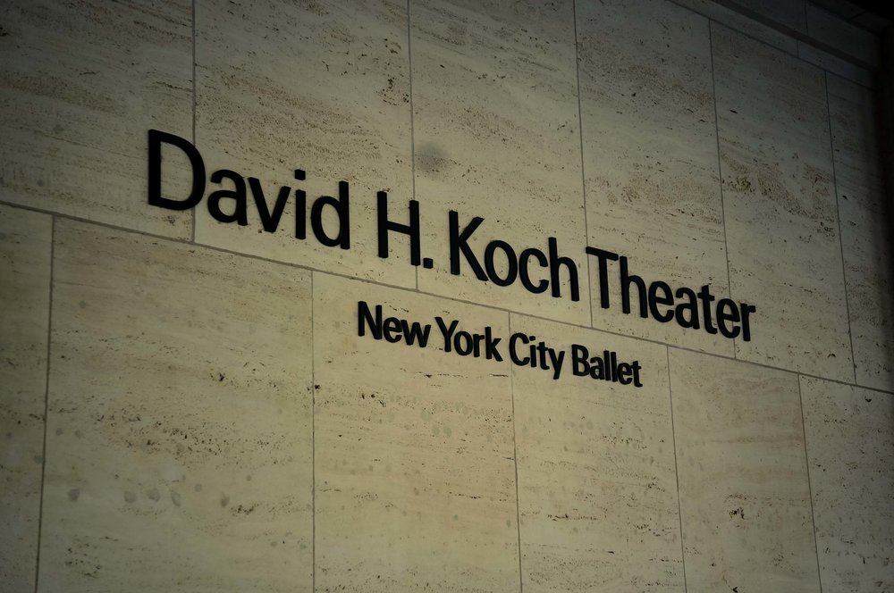 The David H. Koch Theater - as close as I was getting to the Faile exhibition on this day.