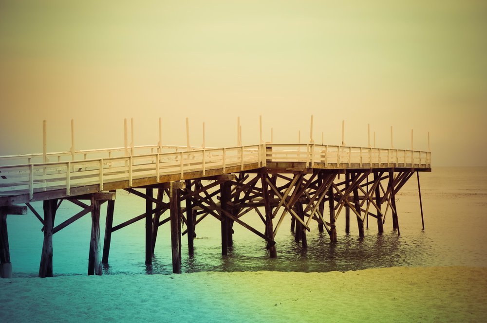 The pier at Paradise Cove.