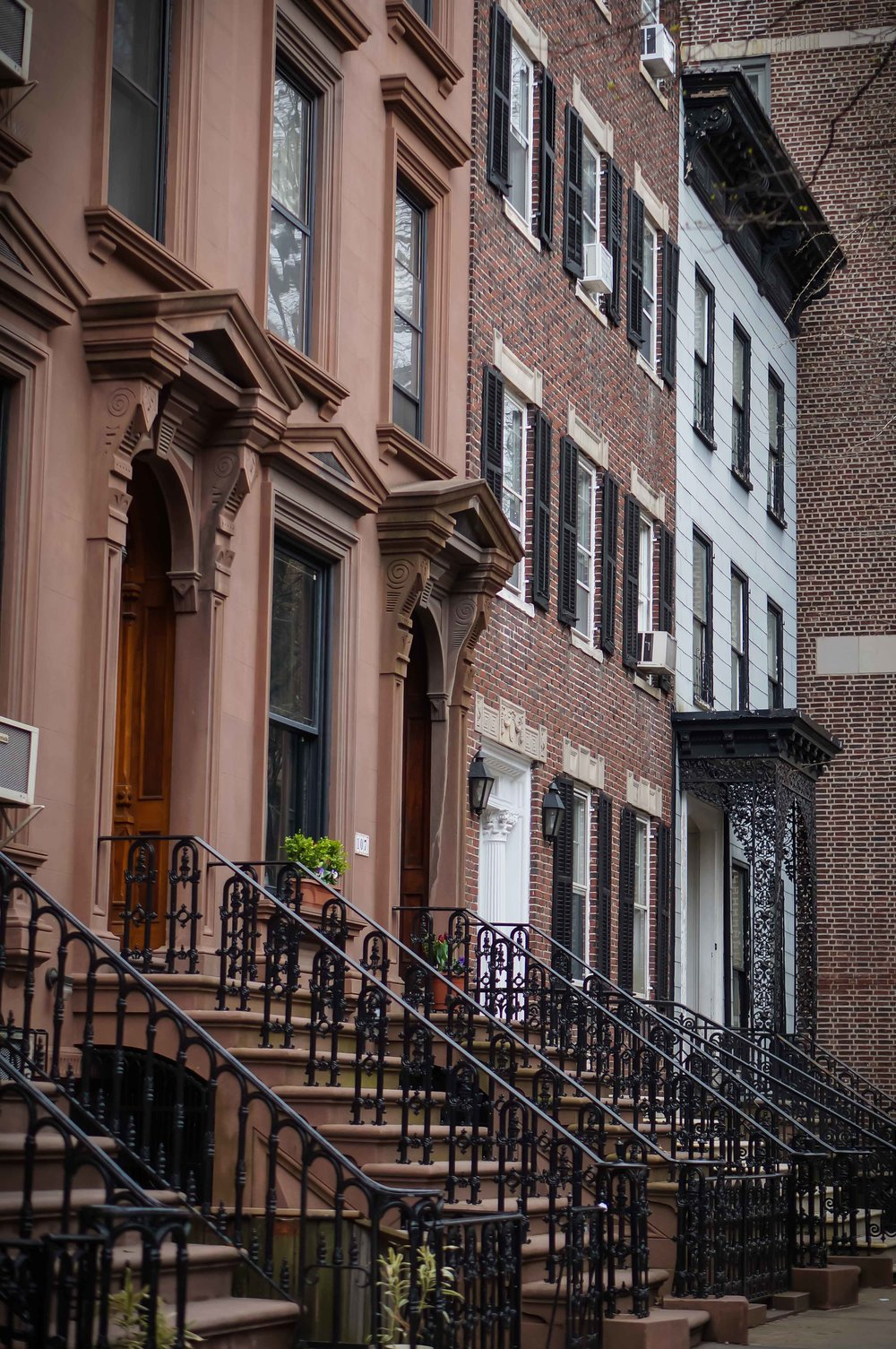 Brownstones in Brooklyn Heights.