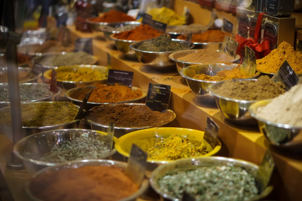 Spices also.