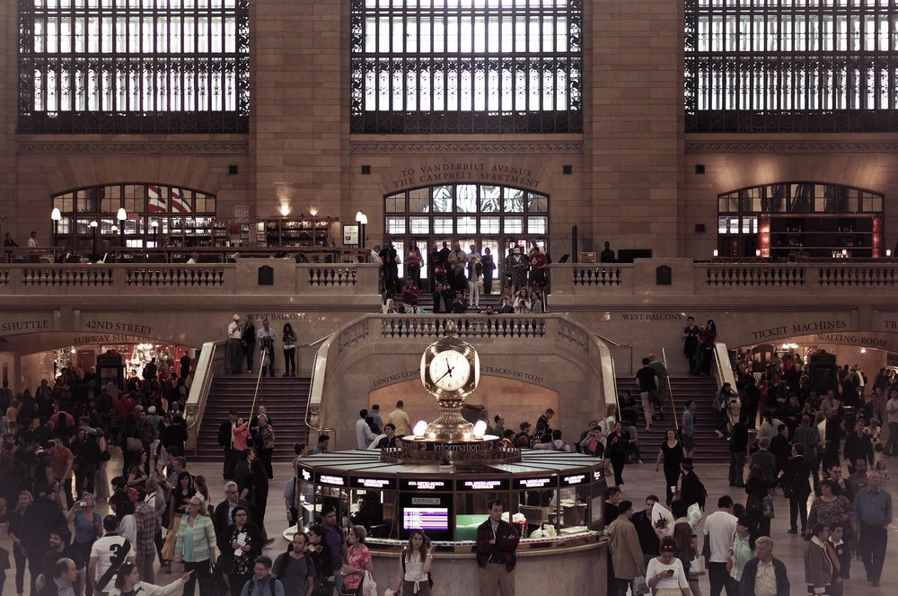 Grand Central, as peaceful as I've ever seen it.