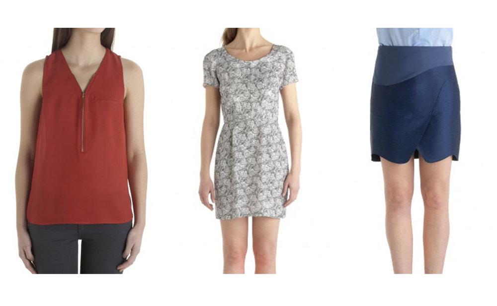 Top, The Kooples; Dress, The Kooples; Skirt, The Kooples