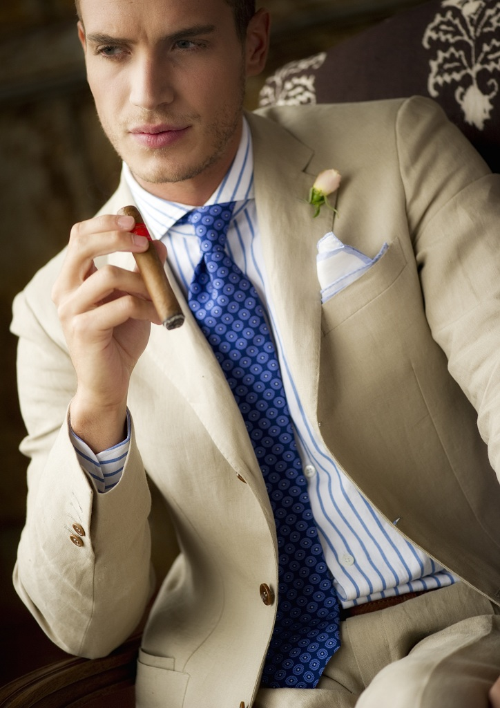 Summer suits...cigar totally not necessary. Or desirable, for the matter.
