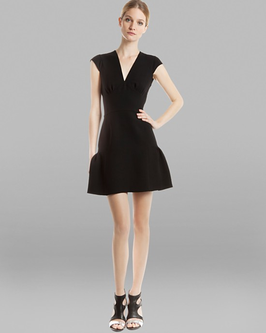 Sandro Rose cap sleeve dress.