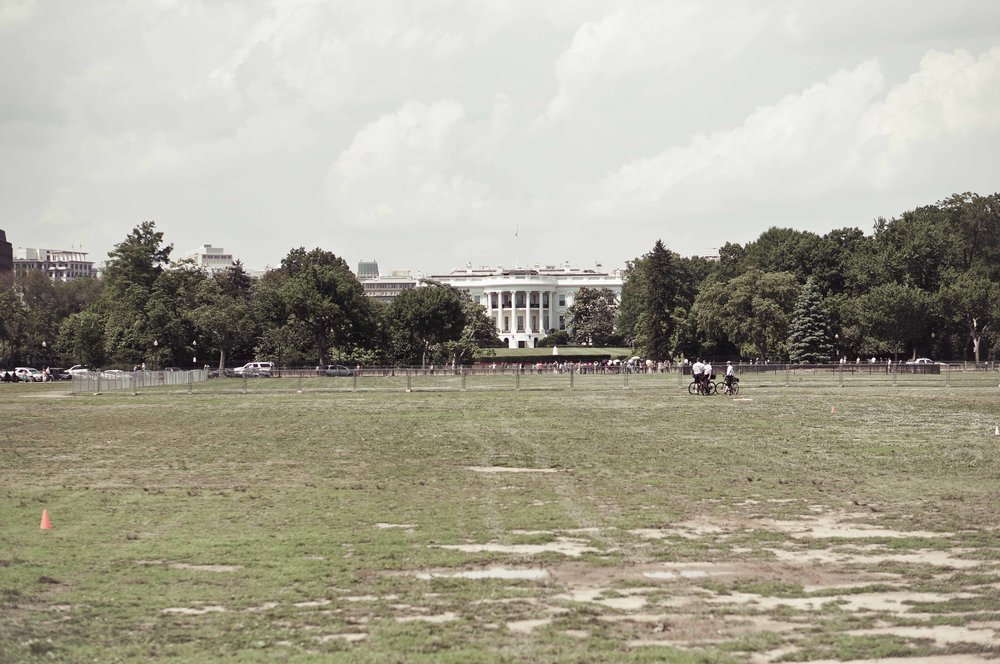 The White House, from a safe distance.