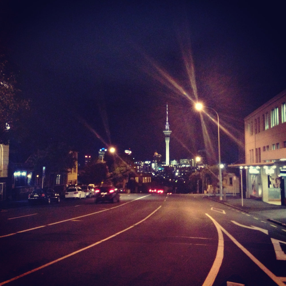 Auckland at night.