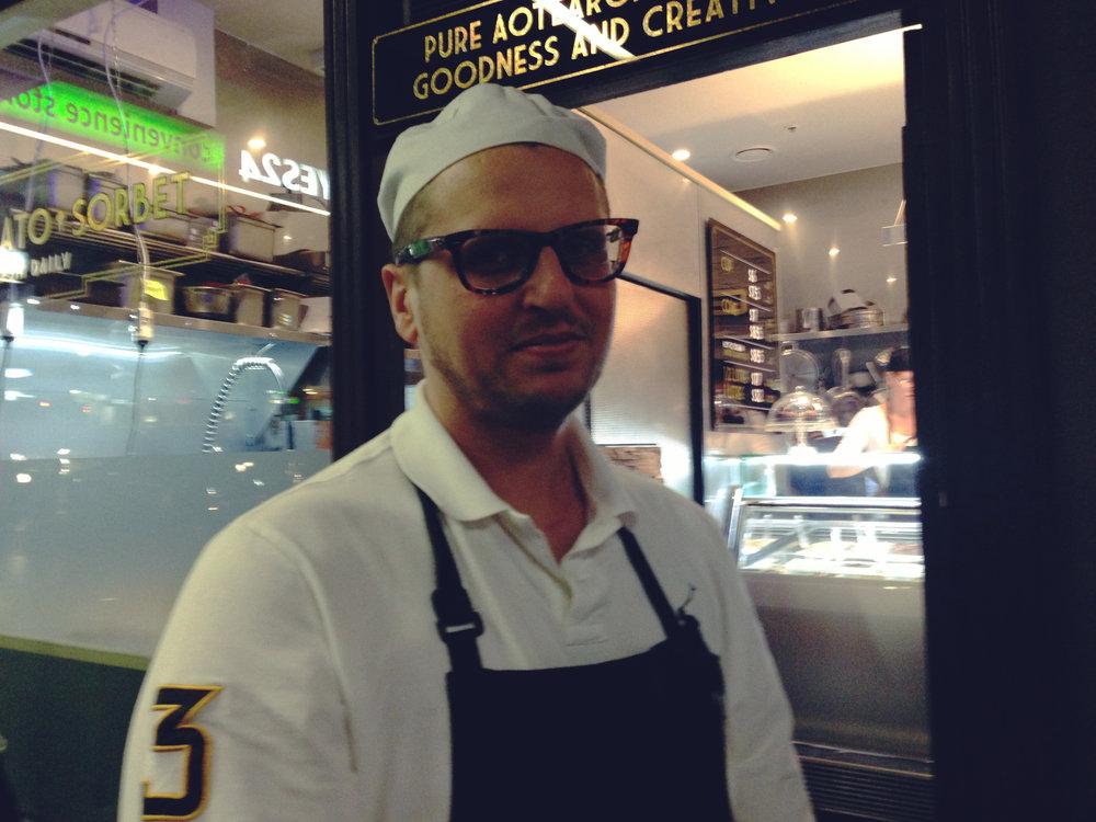 Gianpaolo Giapo, the gelato genius.