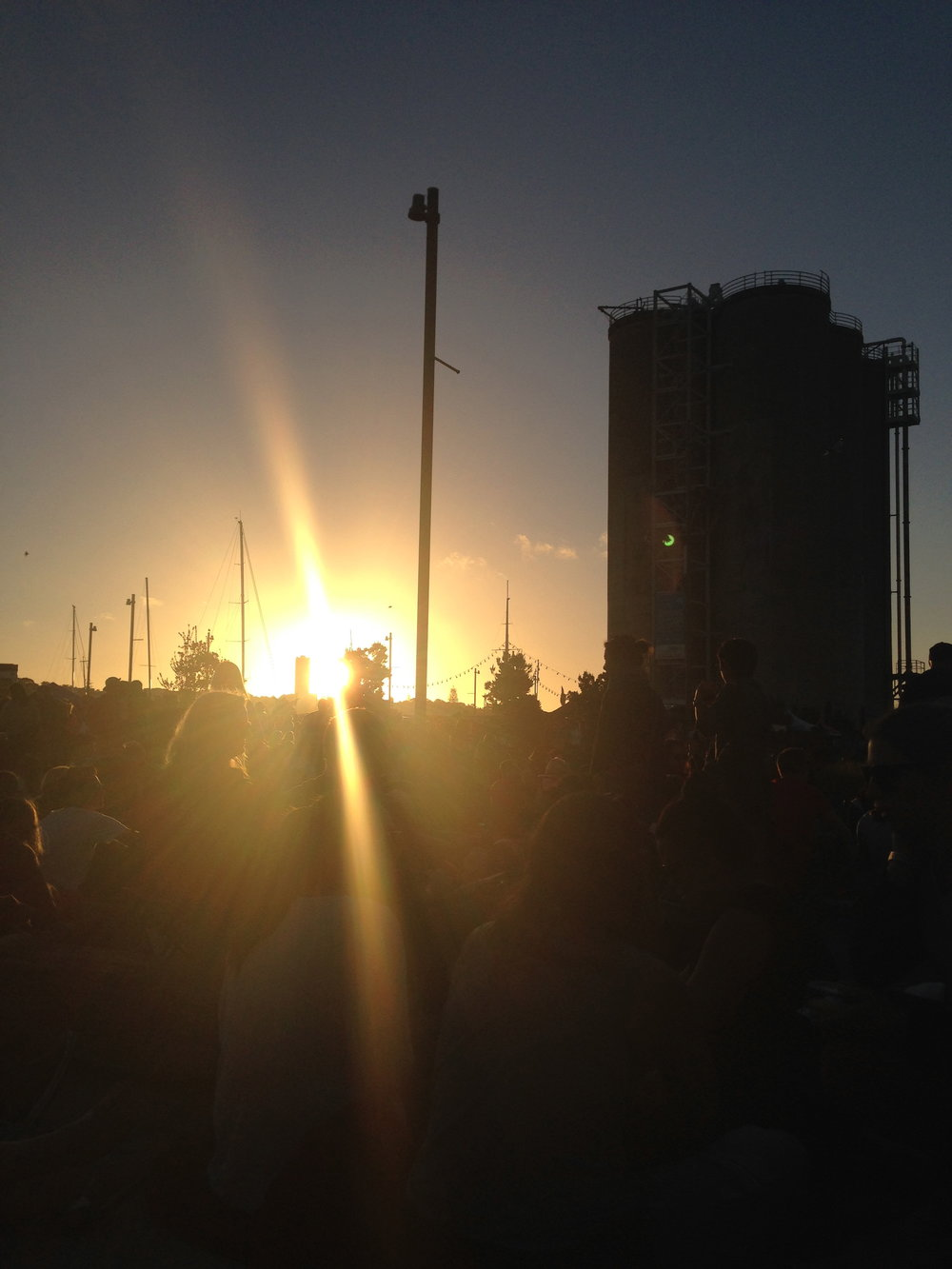 Scenes from last weekend...Silo Park at sunset.