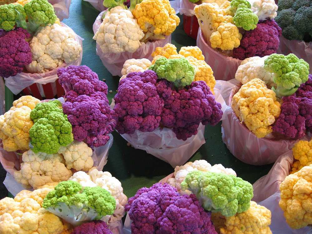 Yep, cauliflower...and I wish all vegetables came like presents like this. Image:  Flickr/Jack LeTourneau