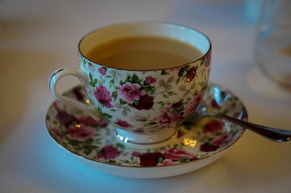 Celebrating with tea