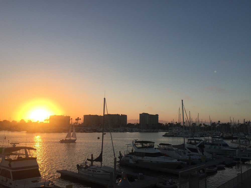 Sunset over the marina.