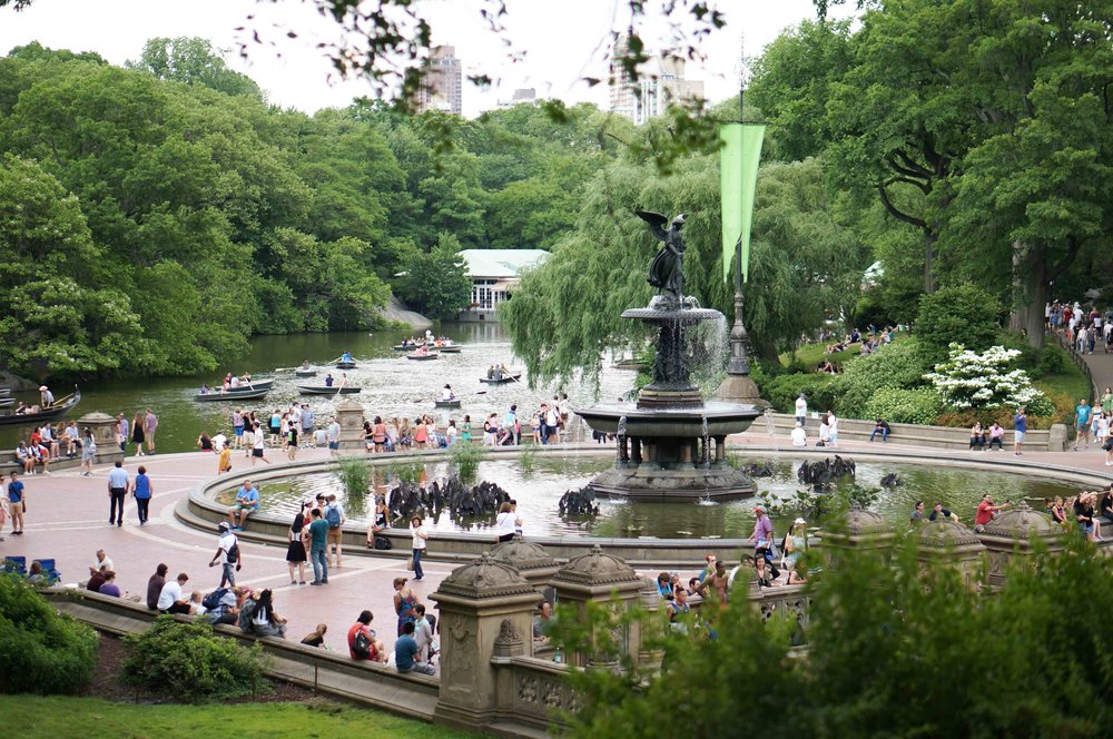 The Bethesda Fountain in Central Park.