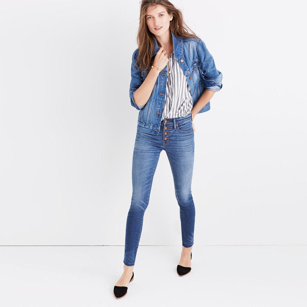 Madewell jeans.  Image via Madewell .