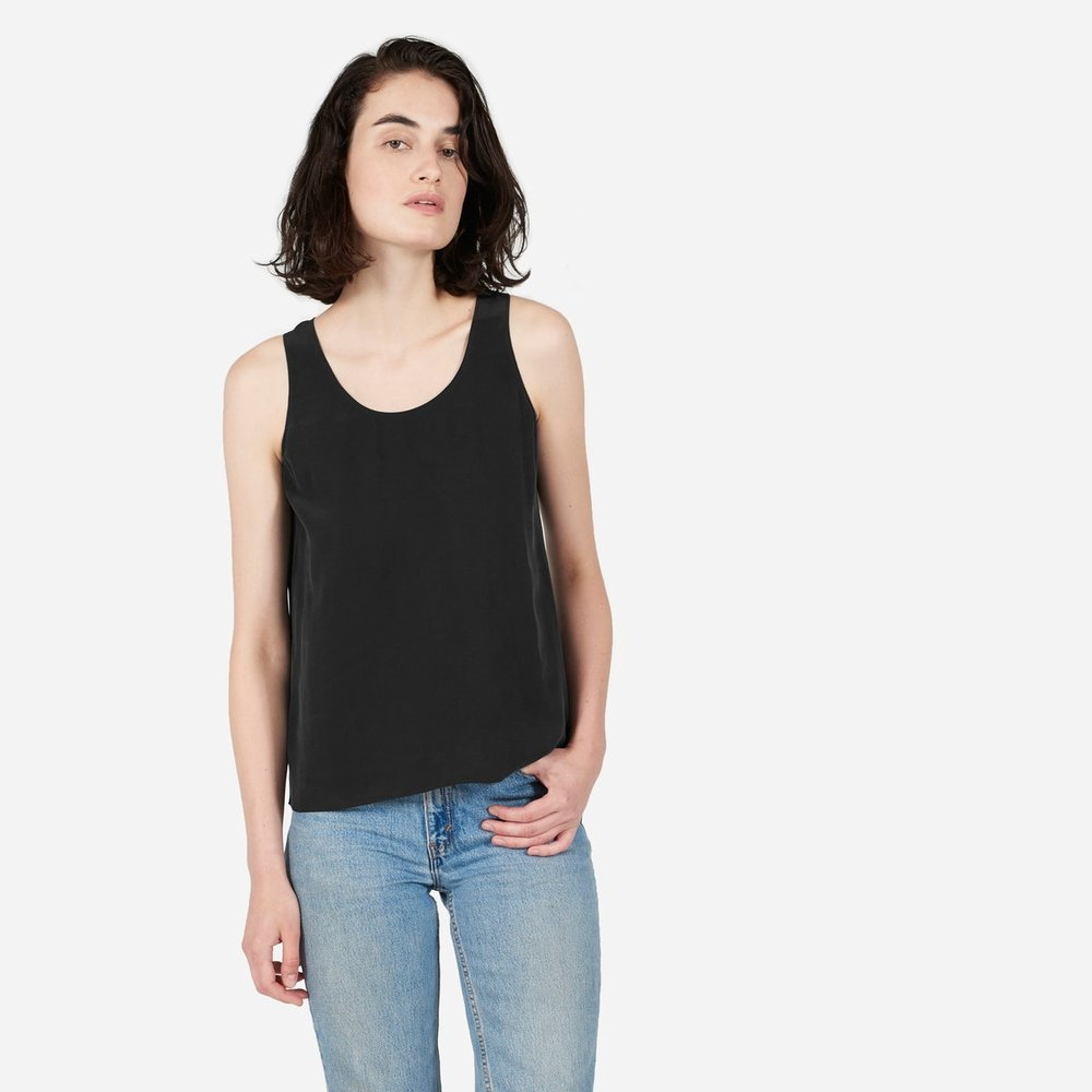 Everlane silk top.  Image via Everlane .