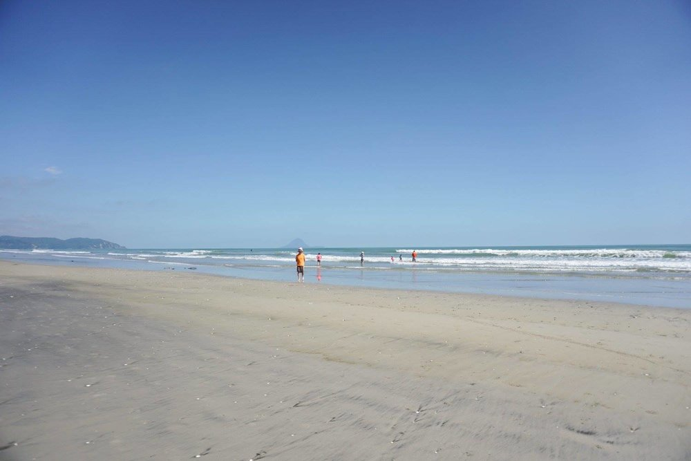 Amazing Ohope Beach, in the Bay of Plenty – the last stop on our summer holiday.
