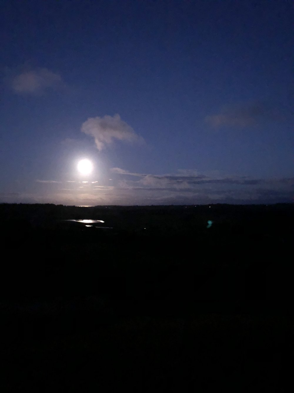 The most amazing full moon from the country house.