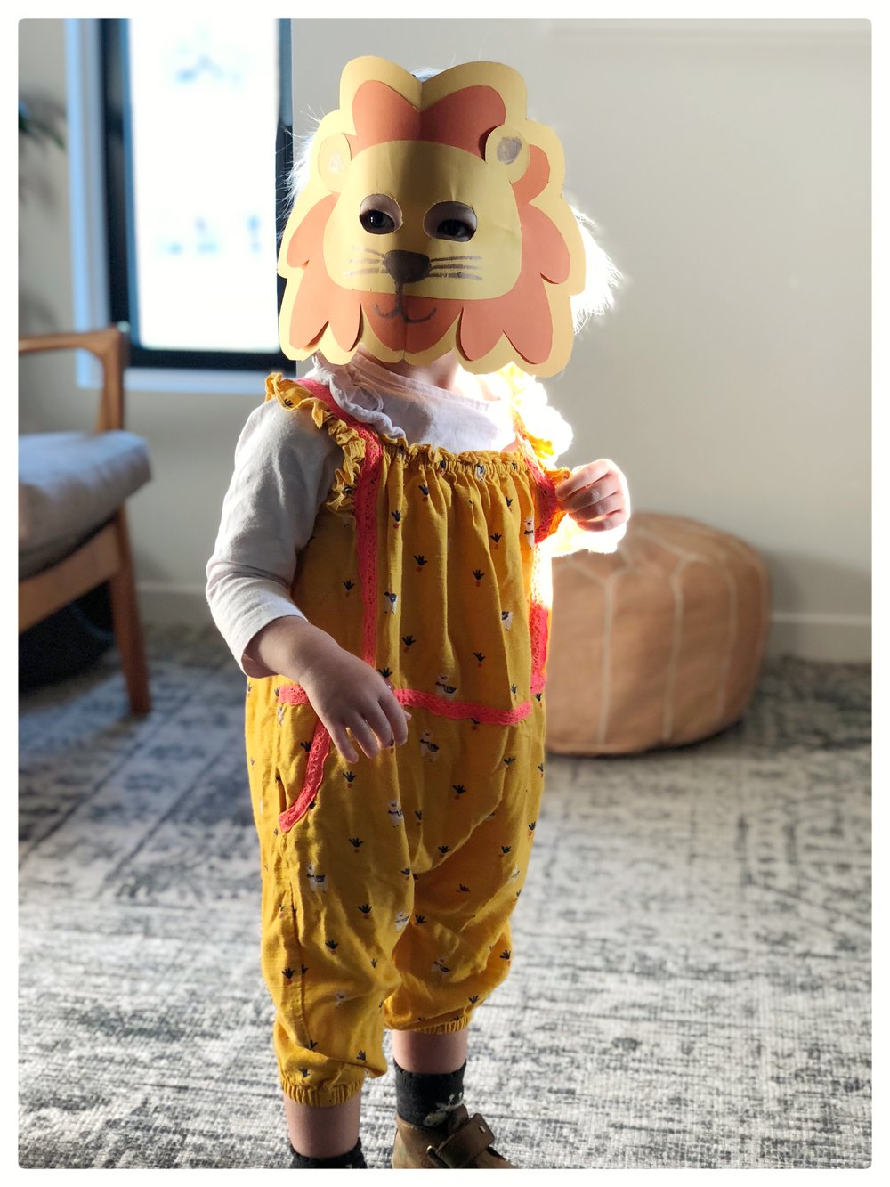 Our little lion dressed up for Halloween.