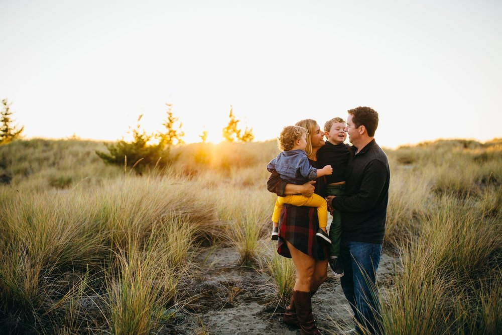 Fall Beach Family Pictures | Whidbey Island Photographer