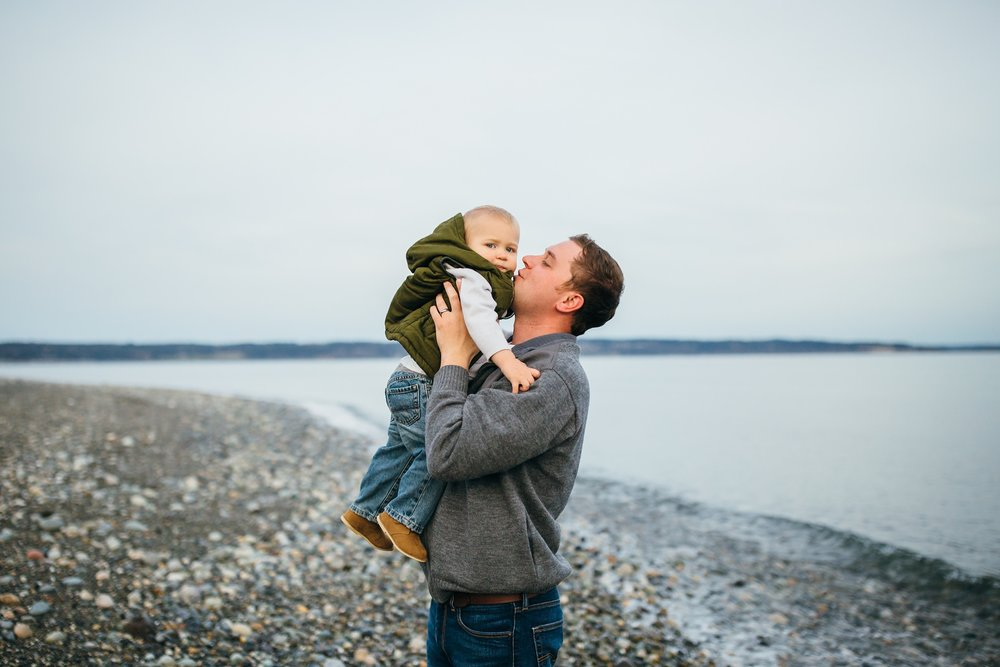 Family Sunset Session at Fort Casey State Park | Whidbey Island Photographer
