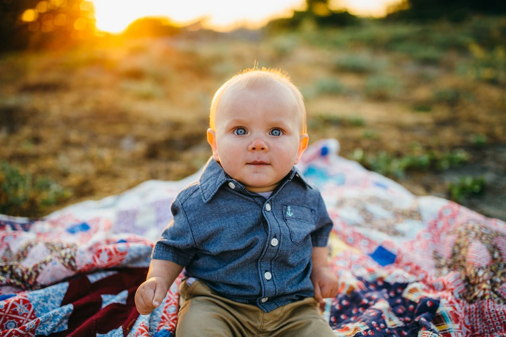 Adorable baby boy smiles at park | Whidbey Island Family Photographer