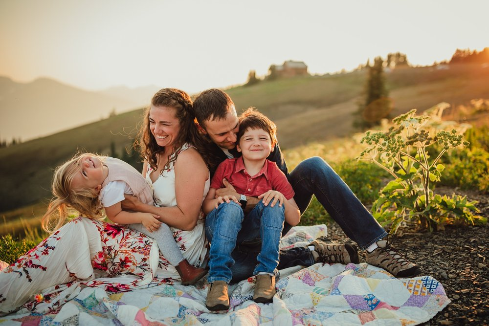 family photographer hurricane ridge