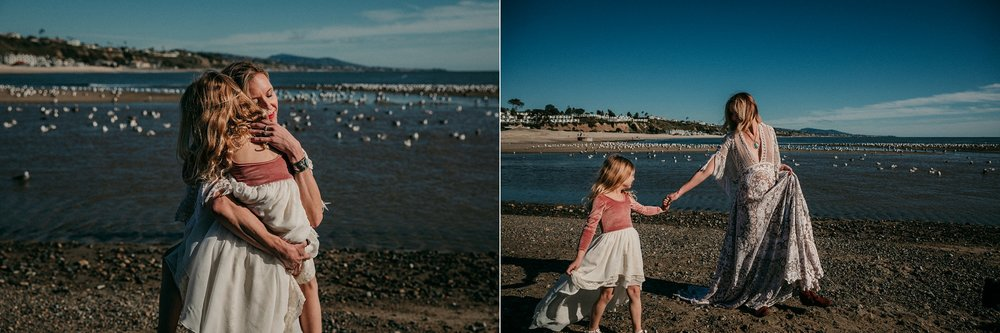 woman hugs daughter on beach | Whidbey Island family photographer