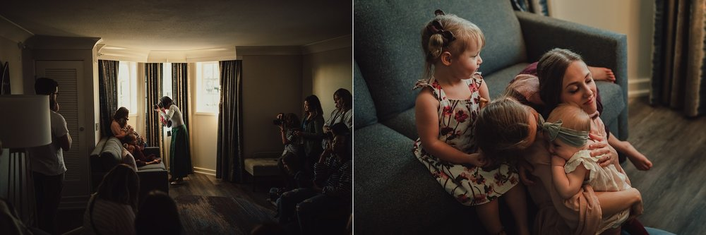 photographer takes pictures of family while teaching at Click Away conference