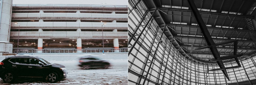 snow at SeaTac airport | Whidbey Island family photographer