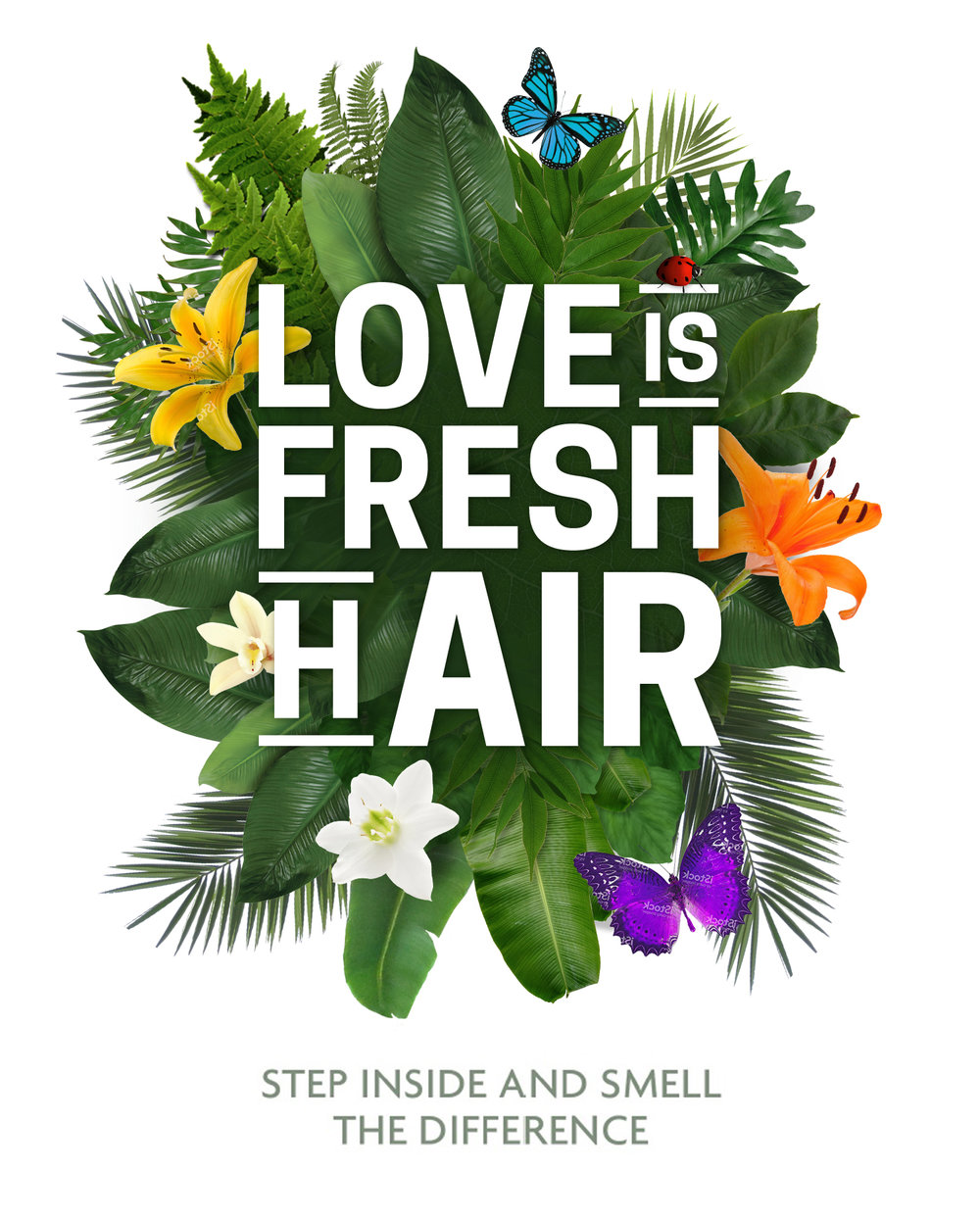 ECO Hair Salons - sticker slogan