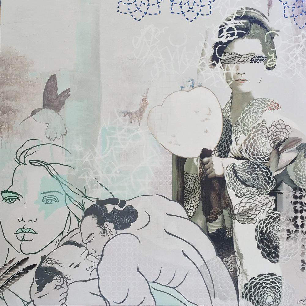 Mirror of life 160cm x 160cm - Irene Hoff