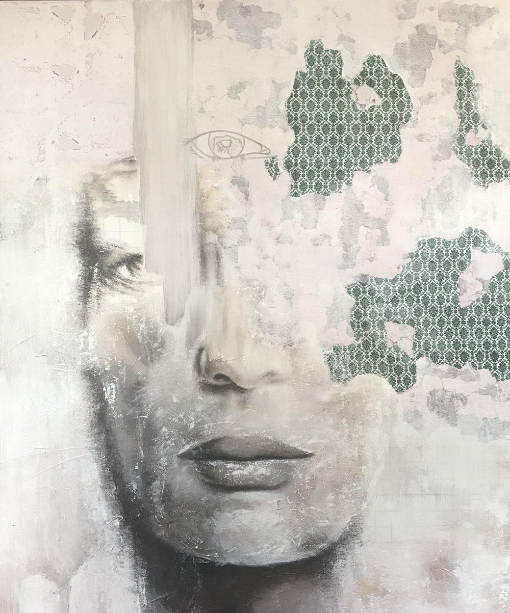 Cracks 120cm x 100cm - Irene Hoff