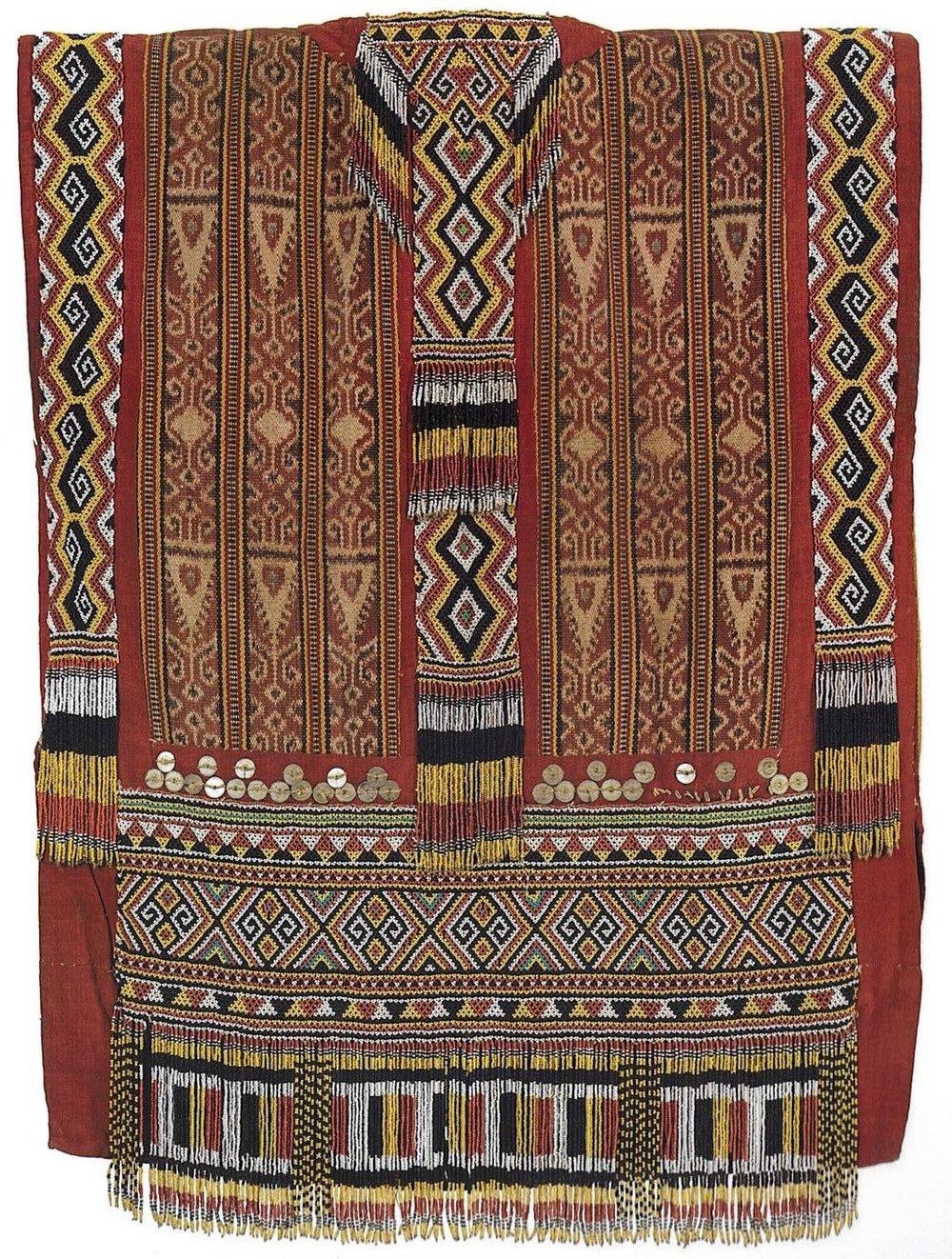 Iban Tribal Ikat Shirt    Wikimedia Commons