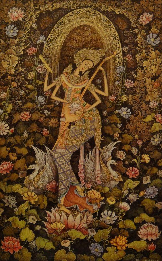 Saraswati - The Hindu Goddess Of Art And Music | Pintrest