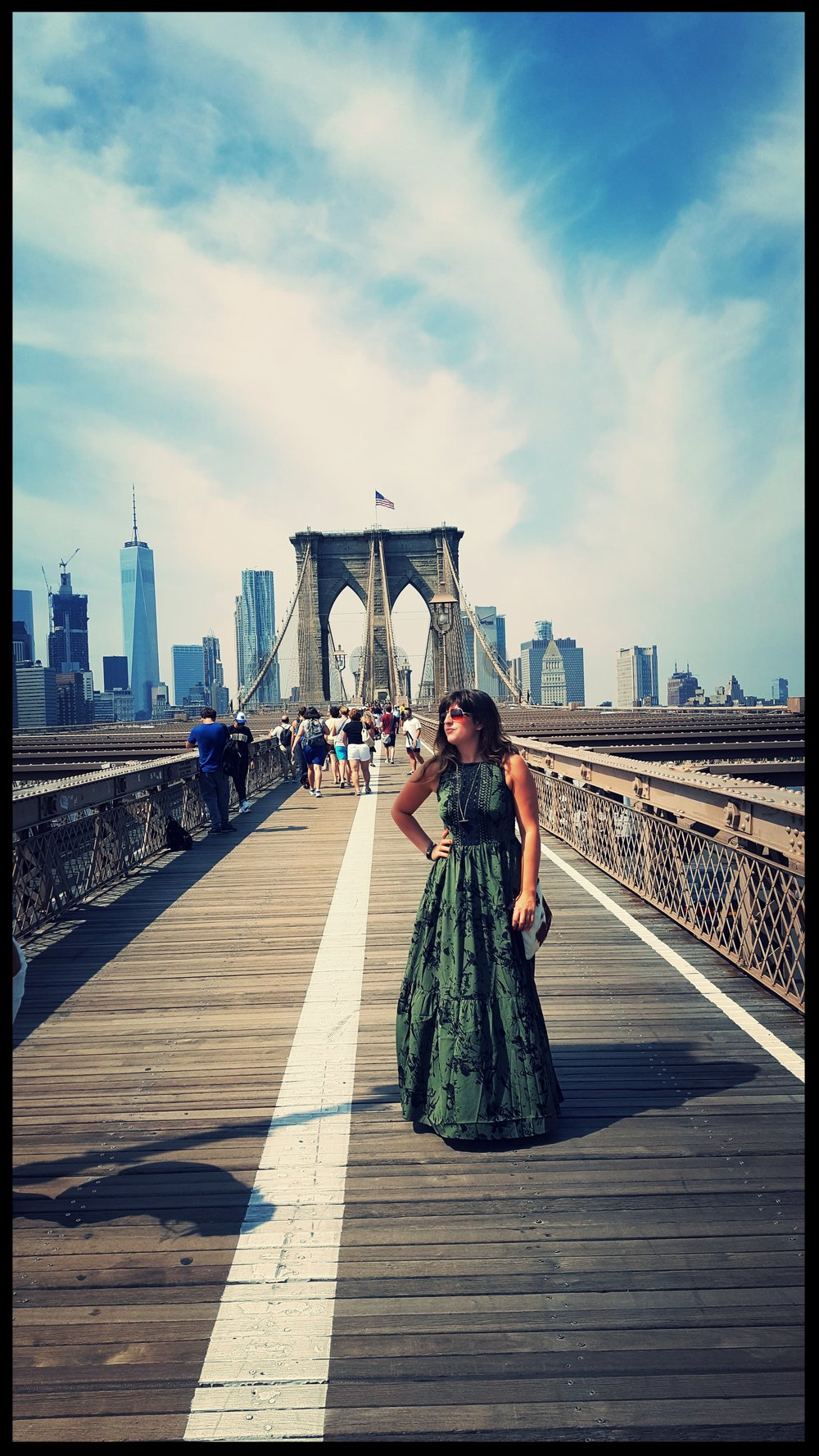 Herbaliste dress @ Brooklyn Bridge, New York