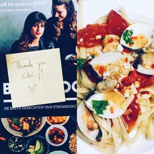 Pasta bowl : Linguini met venusschelpen van Cloe Hendriks