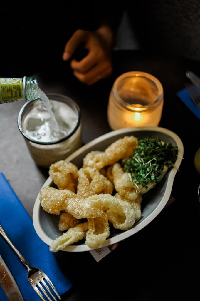 Don't forget to try their deep fried pork rind with cress & mayo dips. Yum!