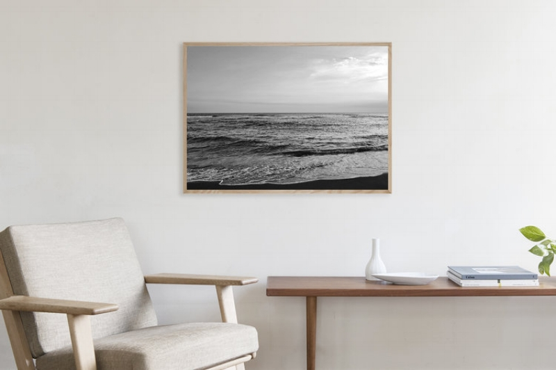 Ocean I  by Noden in size 50x70 cm presented in a solid oak frame by  CPH Studio .