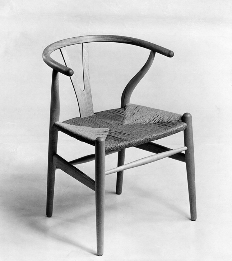 The Wishbone Chair, 1949. The Wishbone chair was the first collaboration between Wegner and maker Carl Hansen, who has produced it since 1950.