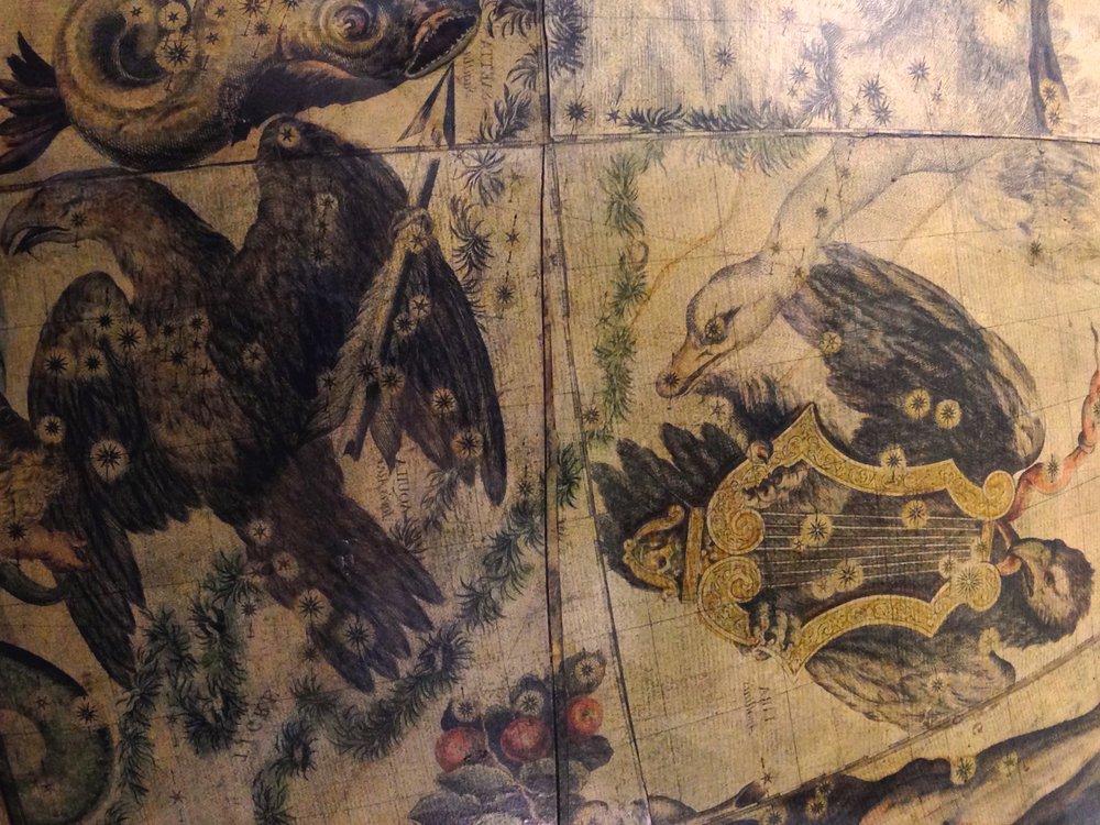 Le due Aquile e Cygnus   Francesco Coronelli, Globo Celeste / Celestial globe, 1693  Esemplare del 1803, ristampa dai rami originali / Edition 1803, engraved from the original plates   Venezia, Museo Storico Navale, Inv. N° 5935  Foto: Chiara Enzo and Marta Naturale, 2016