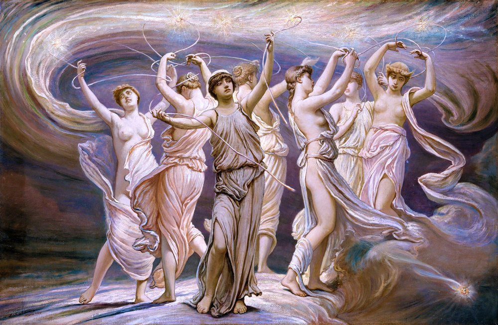 Le Pleiadi come fanciulle/ The Pleiades as Maidens    Elihu Vedder, Le Pleiadi/ The Pleiades  Olio su tela/ Oil on canvas  1885  New York, The MET Museum