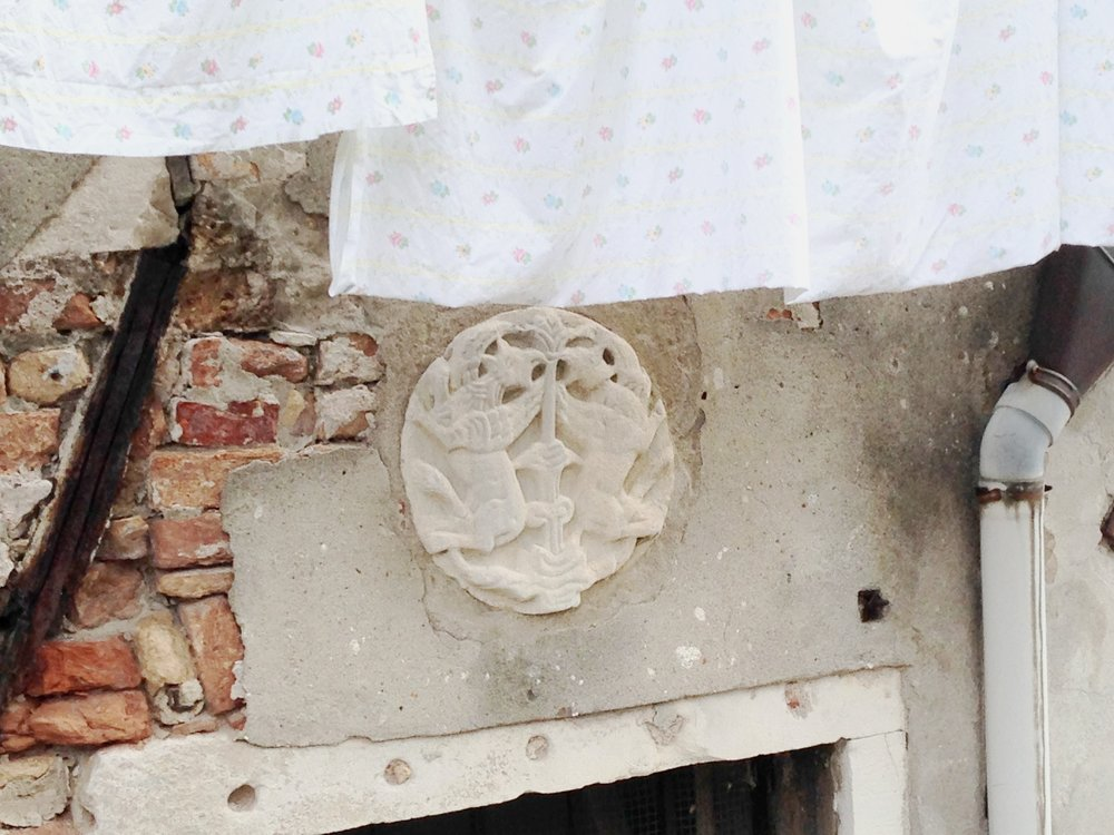 Patera, 12th century. Venice, Fondamenta de la Tana, Castello 2102