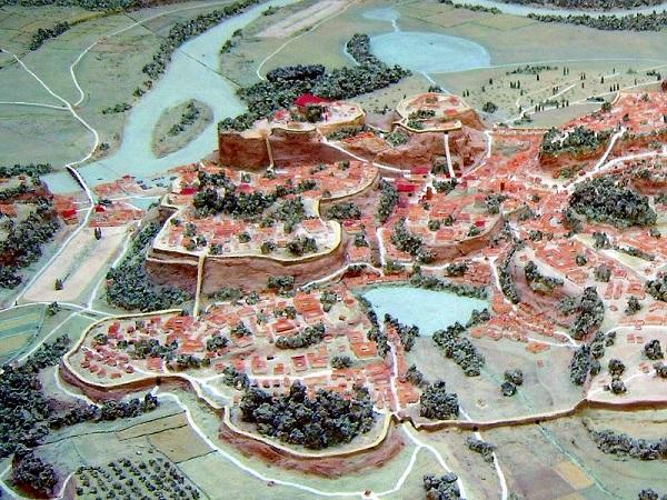 Modell des archaischen Roms zur Zeit der Tarquinier im Museo della Civiltà Romana. (Foto: Autor)